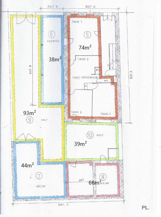 Marseille 5 Location Local commercial 386m² non divisibles
